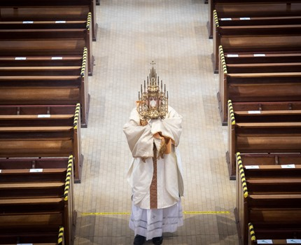 Archbishop Gives Corpus Christi Blessing